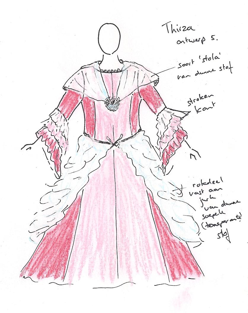 ontwerp jurk Thirza