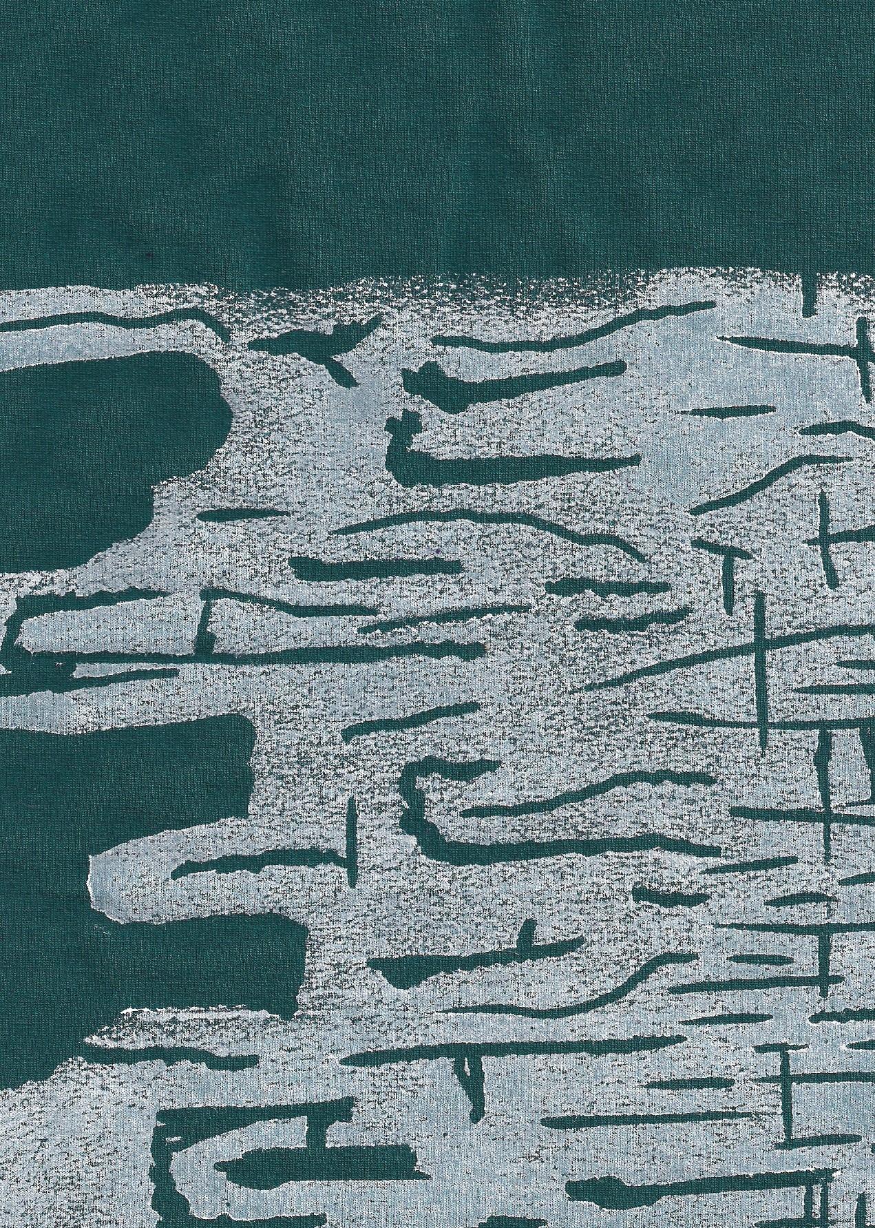 stofbedrukking met witte print